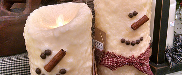snowman-candles