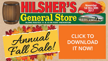 Hilshers Store Annual Fall Sale 2017